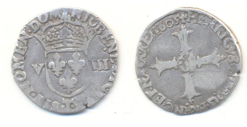 Huitieme d'écu Henri IV à identifier Huitia11
