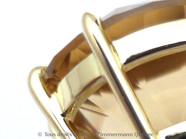 Boucles d'oreille or serti griffes avec des citrines de Daniel Stair Dscn0523