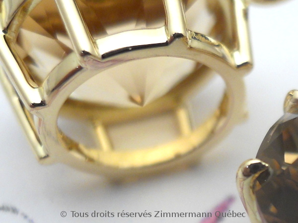 Boucles d'oreille or serti griffes avec des citrines de Daniel Stair Dscn0525