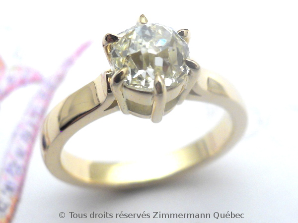 Solitaire diamant taille ancienne avec PALMETTES rapportées Dscn0618