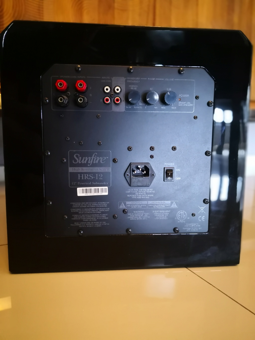 SOLD Sunfire HRS-12 Powered Subwoofer (Used) Img_2055