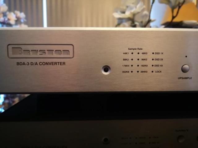 BRYSTON BDA-3  Digital to Analog Converter (Used) Img_2083