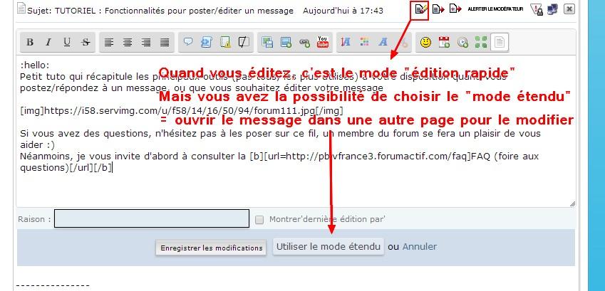 TUTORIEL : Fonctionnalités pour poster/éditer un message Editio10