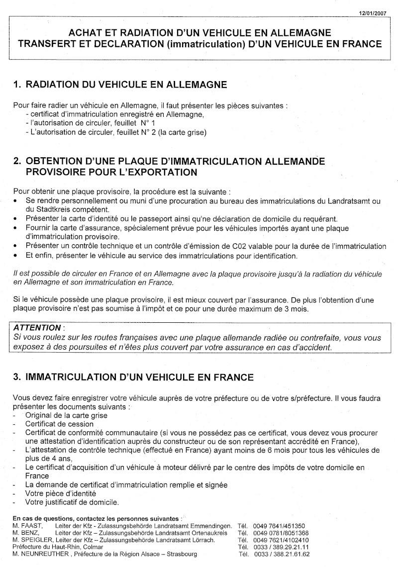 Formalités importation Cci15011