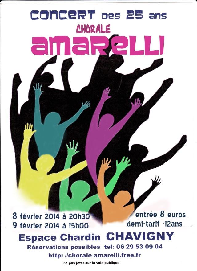 La chorale Amarelli de Méréville fête ses 25 ans  Affich10