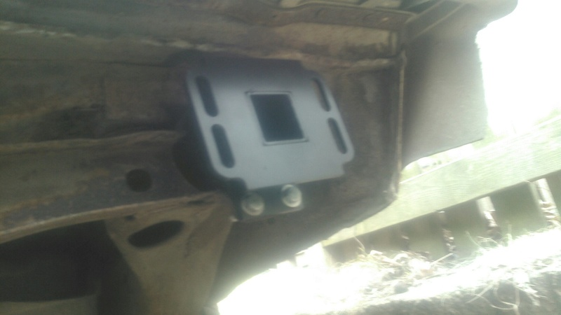 Rear bumper sink. Kimg0015
