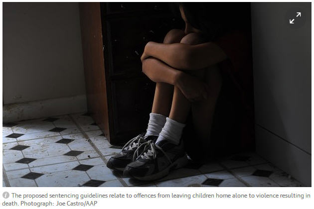 Tougher punishments for abusive or neglectful parents who try to shift the blame for their crimes have been recommended in proposed guidelines issued by the Sentencing Council. 195