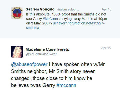 SMITHMAN 10:  Is this absolute, 100% proof that the Smiths did not see Gerry McCann carrying away Madeleine at around 10pm on Thursday, 3 May, 2007? Im10