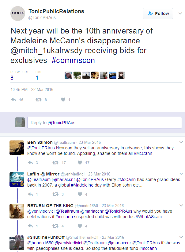 Sun: McCanns slam claims they are cashing in on anniversary of Maddie's disappearance Mitche10