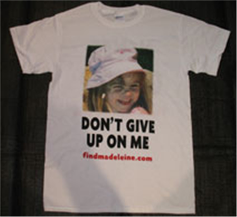 Madeleine McCann - Ten Years On:   Four men and a little girl Tshirt13