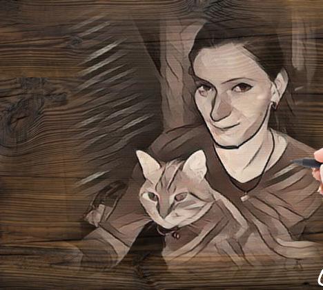 Photo de vos chats gravé dans le bois 2b3aff10