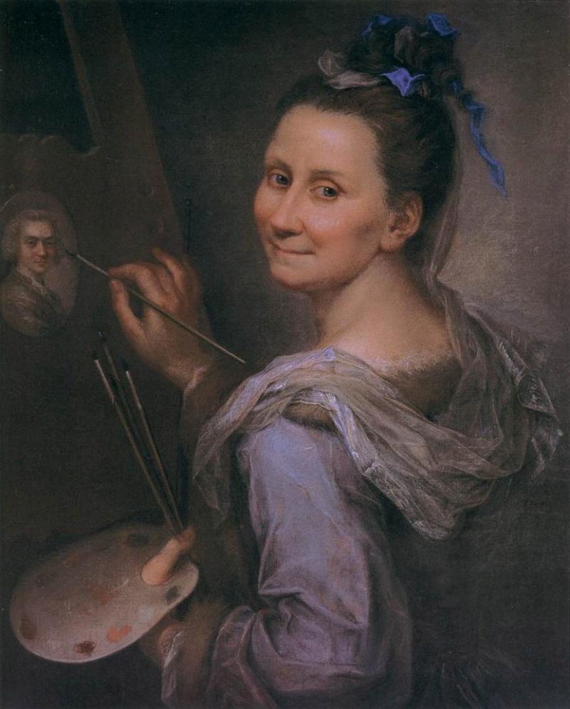 Autoportraits de femmes peintres du XVIIIe siècle Autopo13