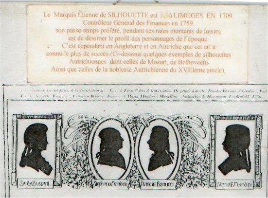 """silhouette - L'art du  """" Portrait en Silhouette """" ou """" à la silhouette """" Histor10"""