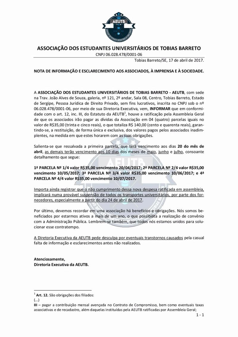 NOTA DE ESCLARECIMENTO C6d9b012