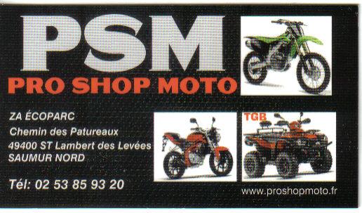 P.S.M : Pro Shop Moto à Saint Lambert des Levées Psm_q910