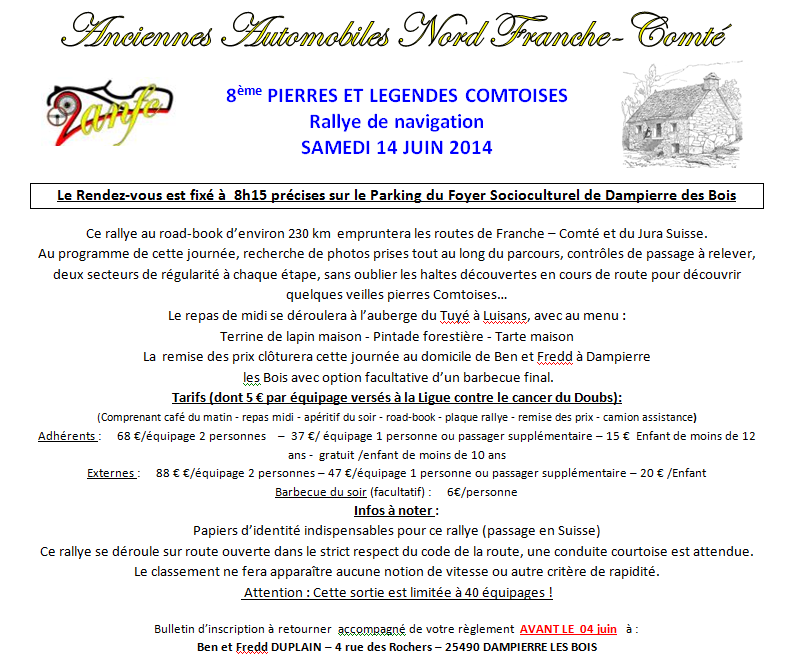 [25][14/06/14] 8ème Rallye Pierres et Légendes Comtoises 11710