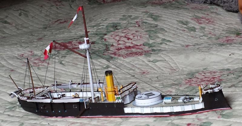 CORAZZATA - Corazzata Peruviana a torre HUASCAR - modello in carta terminato 20131116