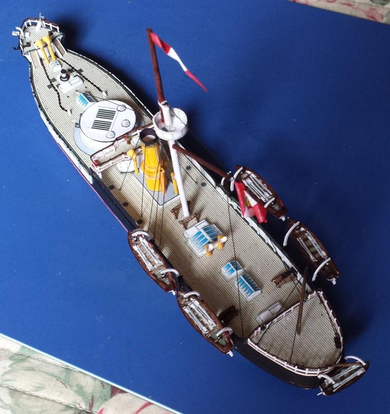 CORAZZATA - Corazzata Peruviana a torre HUASCAR - modello in carta terminato 20131119