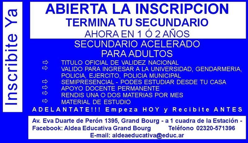 TU curso esta en Aldea Educativa. Aviso_49