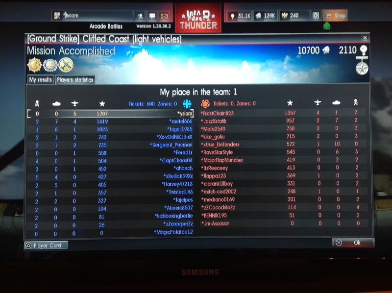 WAR thunder sur PS4...... Img_0113