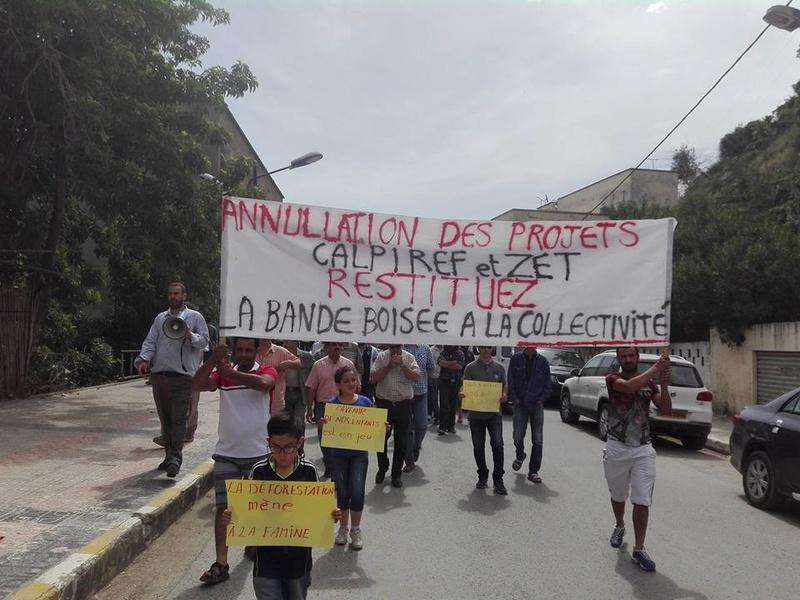 Marche à Aokas contre la destruction de la bande boisée le lundi 22 mai 2017 112