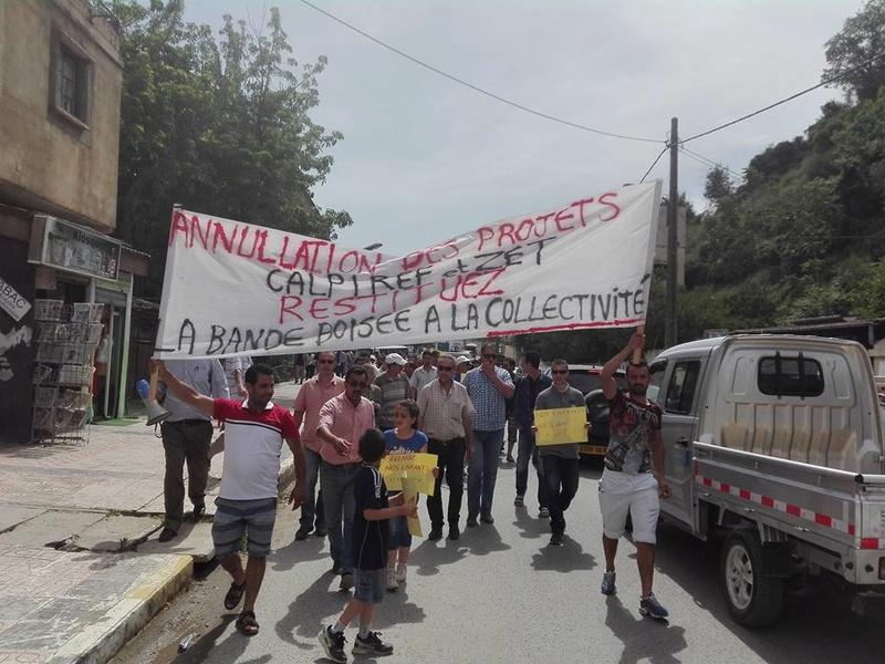 Marche à Aokas contre la destruction de la bande boisée le lundi 22 mai 2017 113