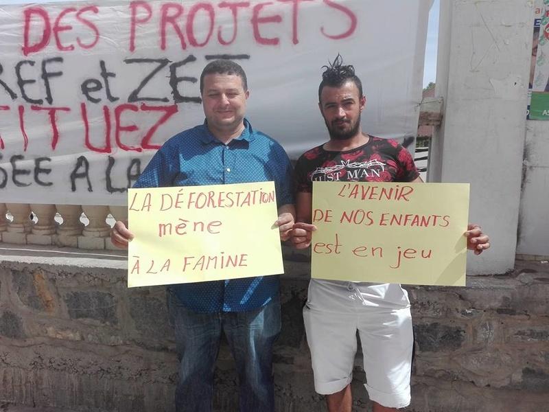 Marche à Aokas contre la destruction de la bande boisée le lundi 22 mai 2017 216