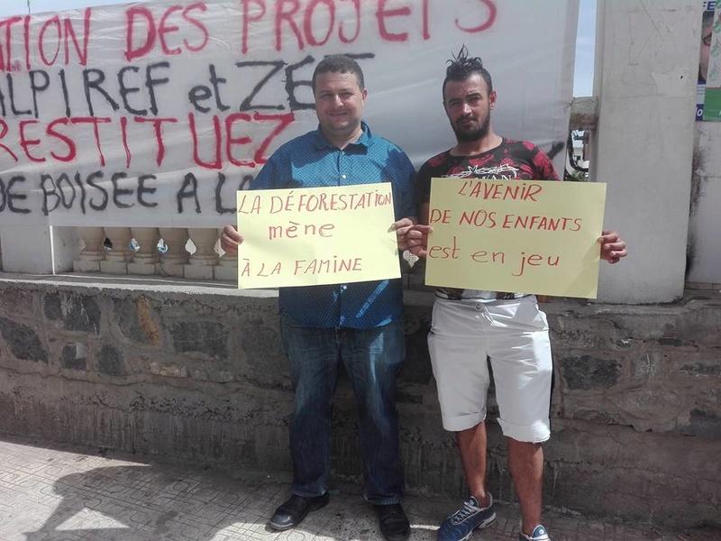 Marche à Aokas contre la destruction de la bande boisée le lundi 22 mai 2017 217