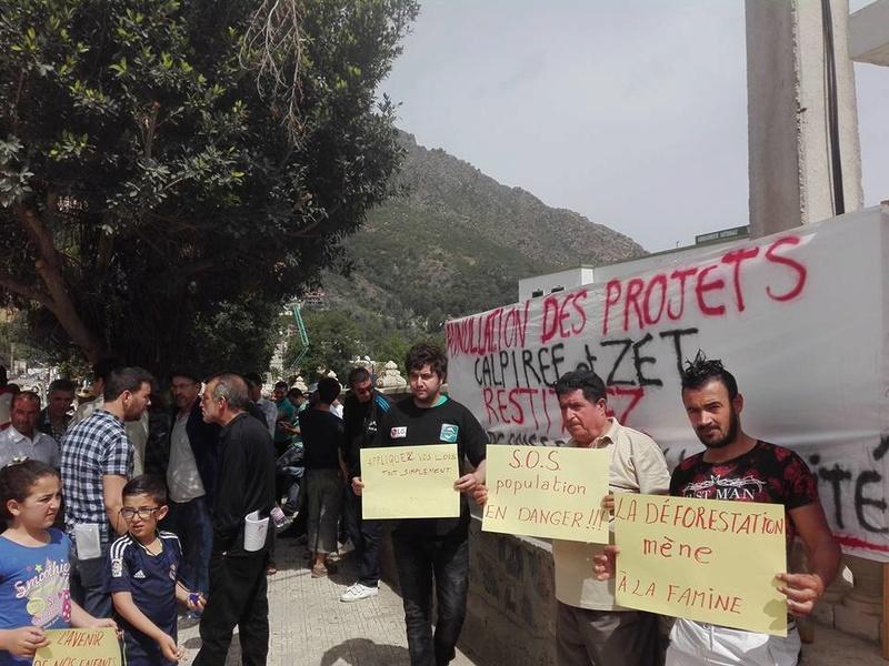 Marche à Aokas contre la destruction de la bande boisée le lundi 22 mai 2017 221