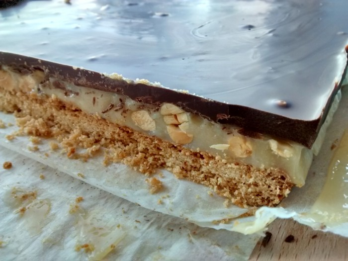 Snickers Caseiros Fatiar10