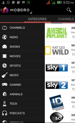 Programa mobdro - Veja milhares de canais de desporto incluindo a sportv portuguesa, animação, filmes, xxx etc Mobdro11
