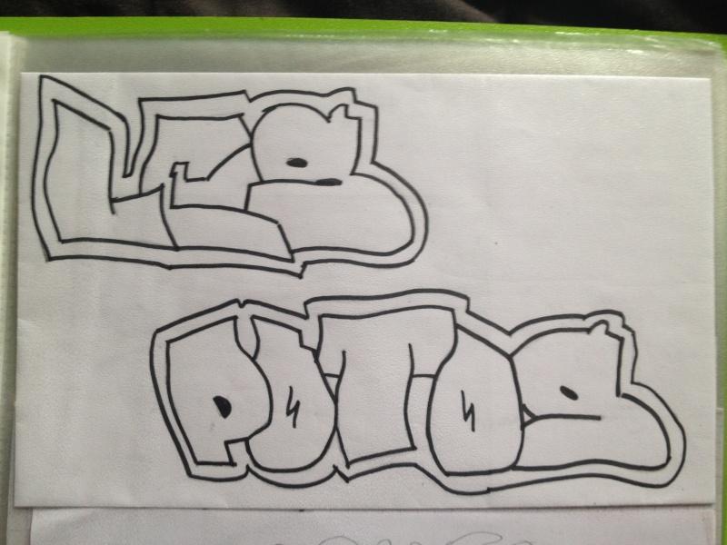 mes dessins enfin plutot mes tags Img_0413
