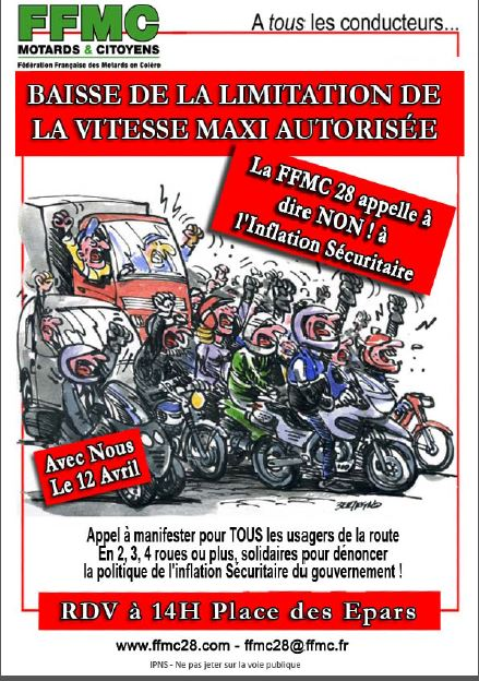 Limitation à 80 km/h : manifs FFMC les 12/13 avril 2014 12_avr10