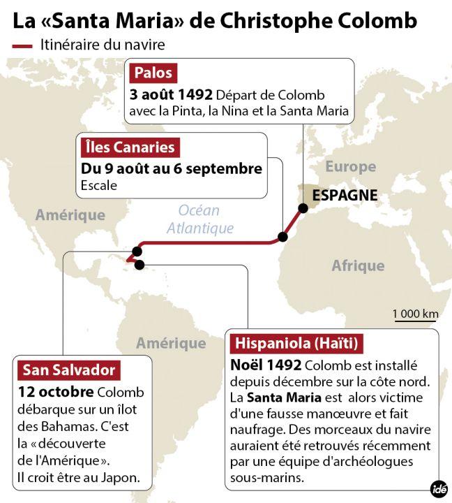 L'épave de la Santa María de Christophe Colomb aurait été retrouvée au large d'Haïti 38378710