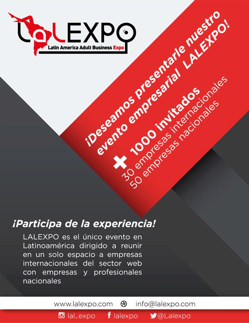 ¡Invitación al evento empresarial LALEXPO! Brochu10