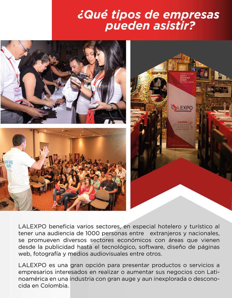 ¡Invitación al evento empresarial LALEXPO! Brochu12