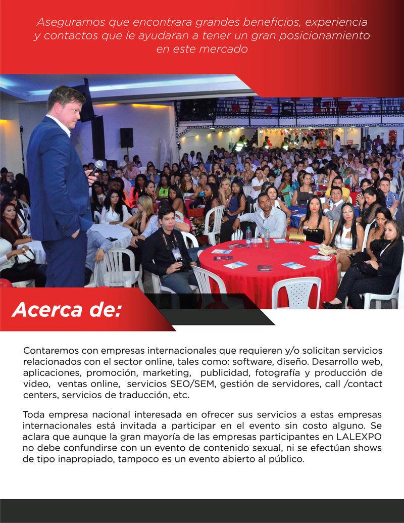 ¡Invitación al evento empresarial LALEXPO! Brochu13