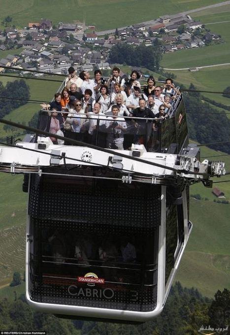 أول تلفريك مكشوف بطابقين فى سويسرا Imagep46