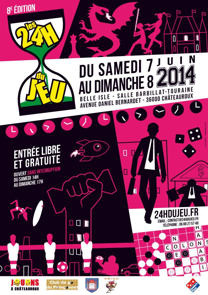 Les 24h du jeu 2014 - supports de com' Affich13
