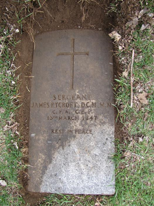 Grave stone of Sgt James Rycroft DCM MM  02_ryc10