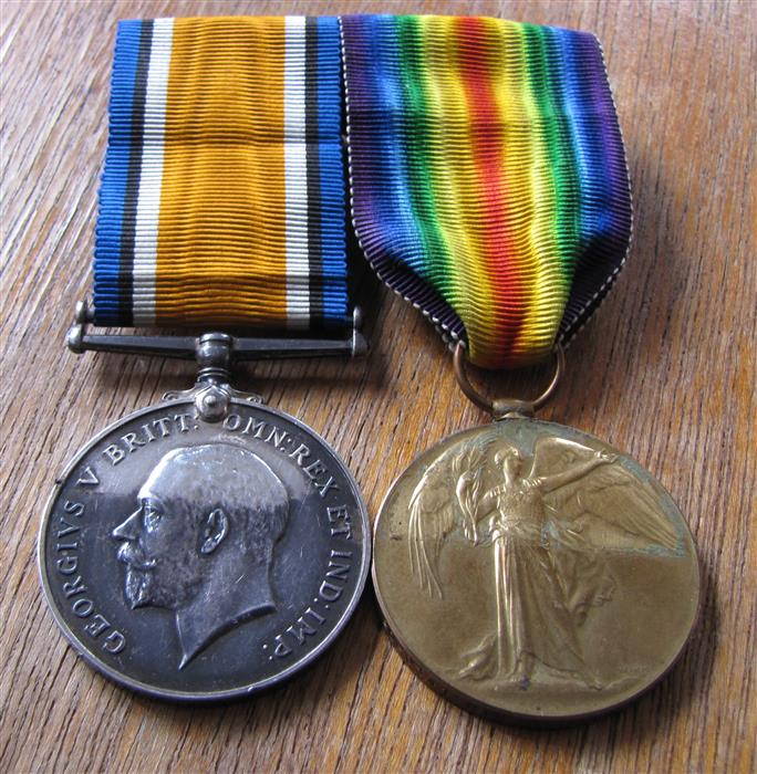 Medals pair to a drafted Mohawk Bey_pa10