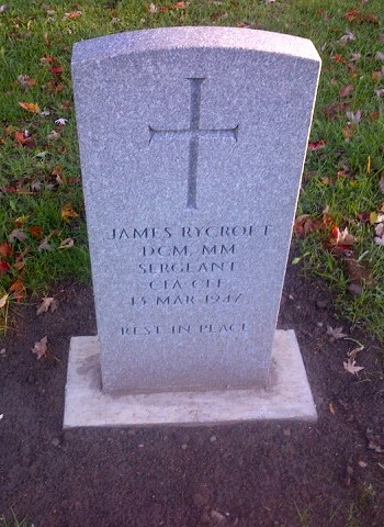 Grave stone of Sgt James Rycroft DCM MM  James_10