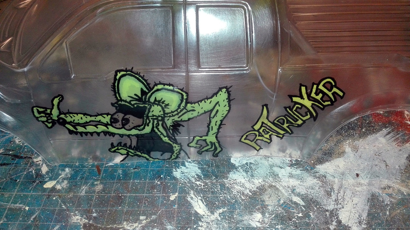 Carosserie Monster truck sur chassis Stampede Rattru15
