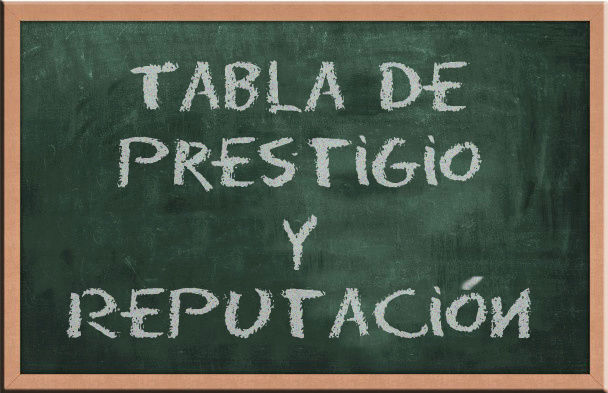 Tabla de Prestigio y Reputación Tabla_10