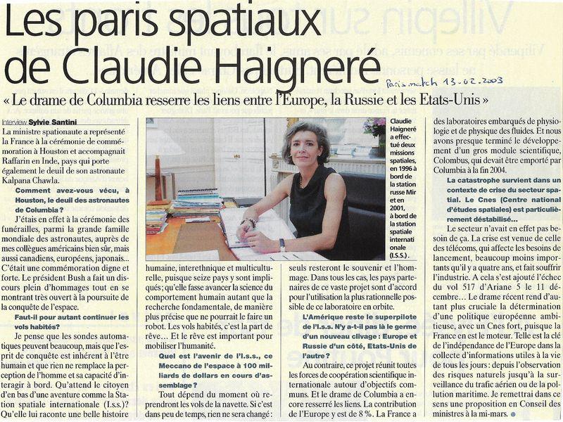 Claudie Haigneré - 1ère Française dans l'espace - Page 2 03021310