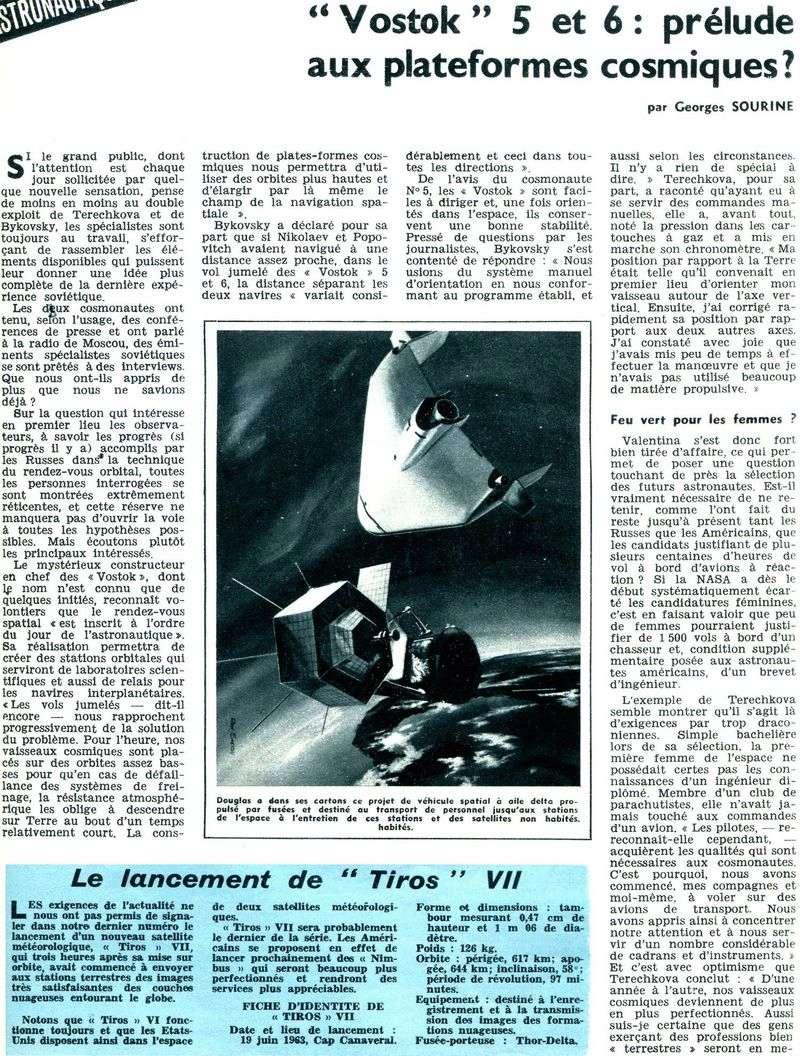 Vostok 5, Vostok 6 - 14, 16 juin 1963 - 1ers vols conjoints 63071510