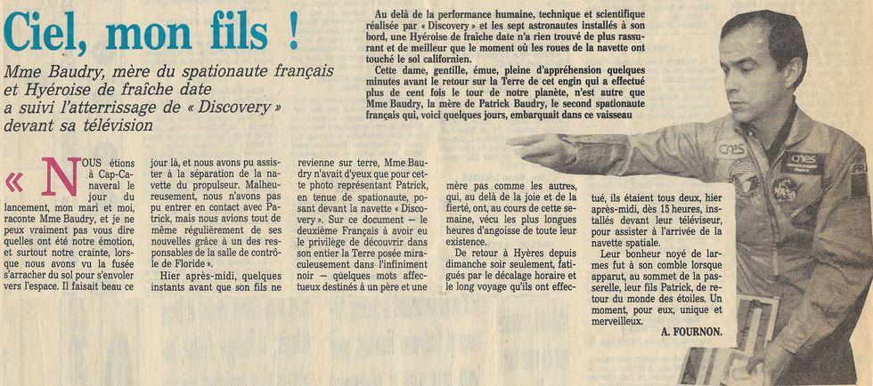 Patrick Baudry - 2ème Français dans l'espace - Page 2 85062512