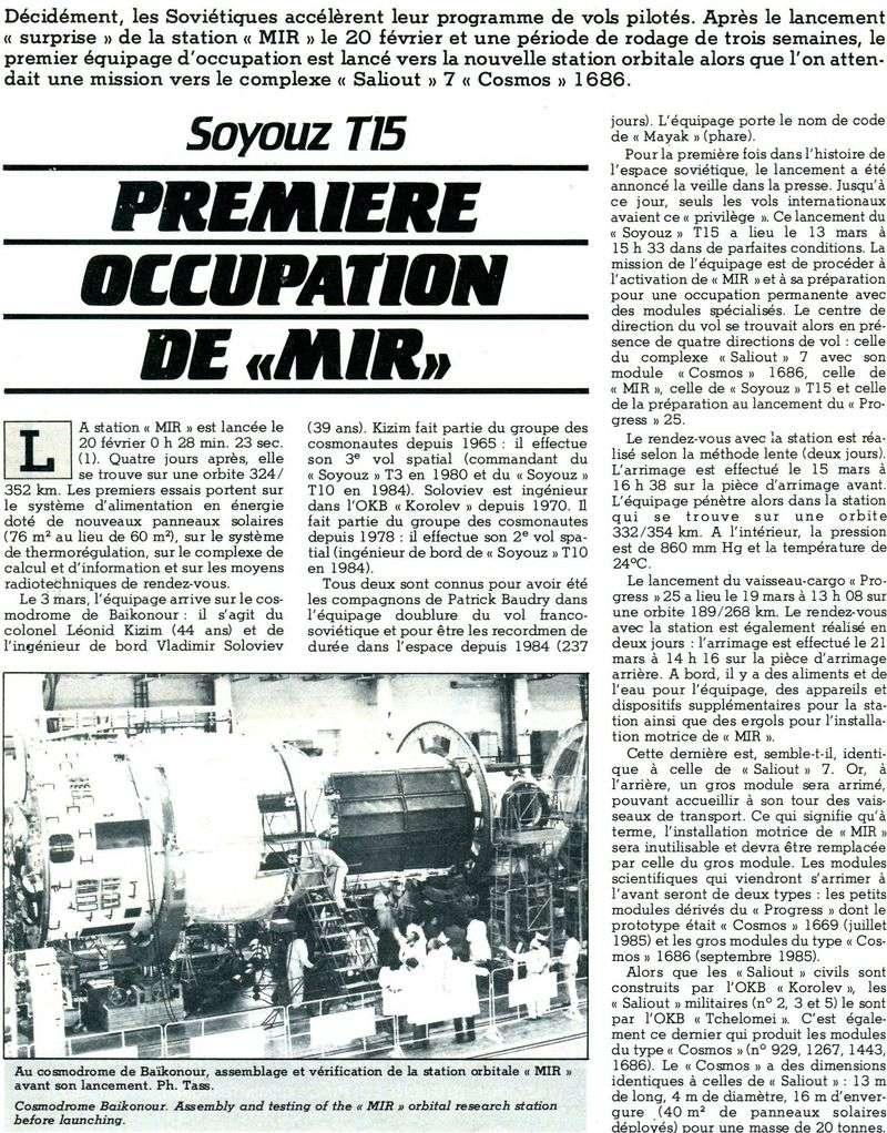 19 février 1986 - Station Spatiale MIR 86041510