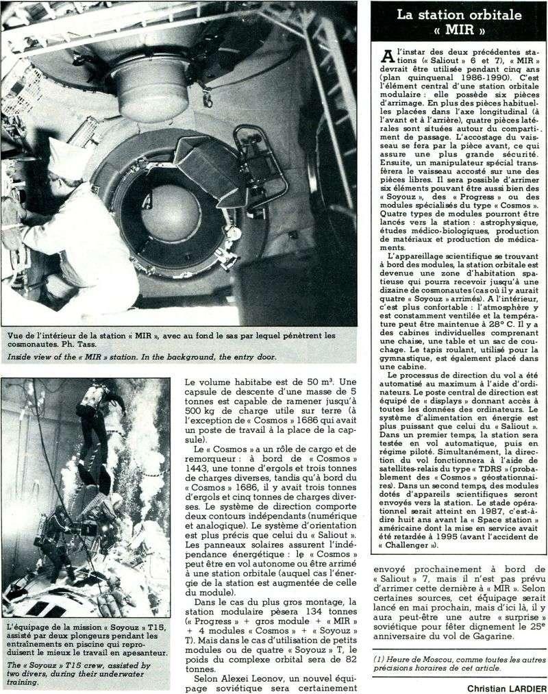 19 février 1986 - Station Spatiale MIR 86041511