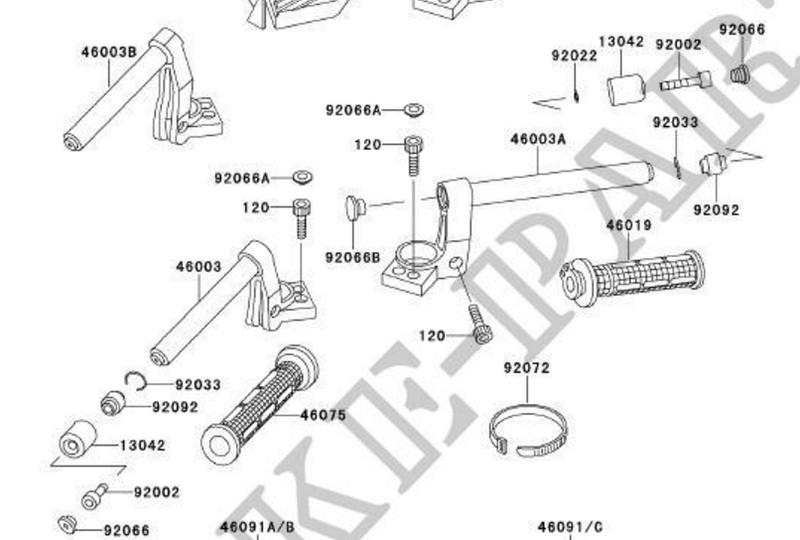 Fabrication rehausse Gtr 1000.  Guidon10